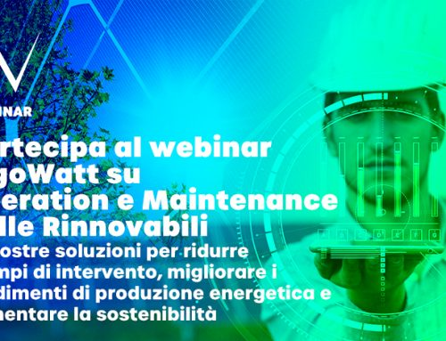 Webinar algoWatt su Operations & Maintenance nelle rinnovabili