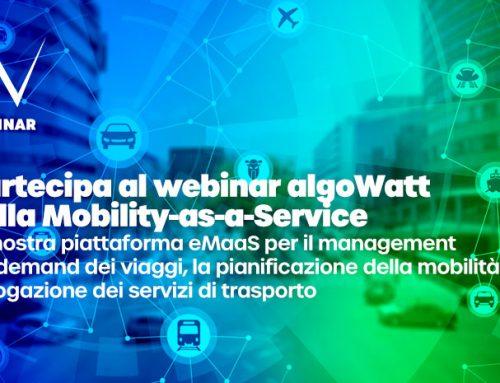 Webinar algoWatt sulla Mobility-as-a-Service e le soluzioni per la gestione della mobilità sostenibile