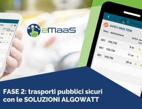 Phase 2 COVID-19: safe public transport with algoWatt eMaaS solutions