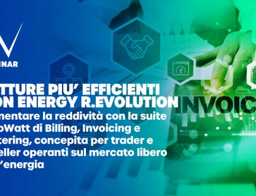 "Webinar algoWatt:  ""Fatture più efficienti con Energy R.Evolution"""