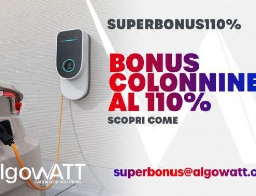 Nell'offerta Superbonus di algoWatt anche le colonnine di ricarica per veicoli elettrici a costo zero per il cliente
