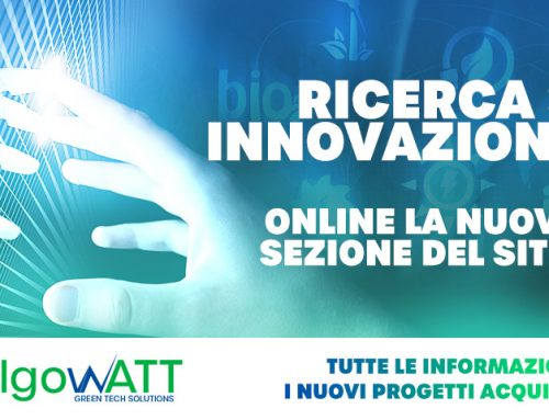 The new Research and Innovation section of the algoWatt website is online