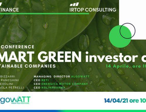 algoWatt partecipa alla seconda edizione del Green Sustainable Investor Day
