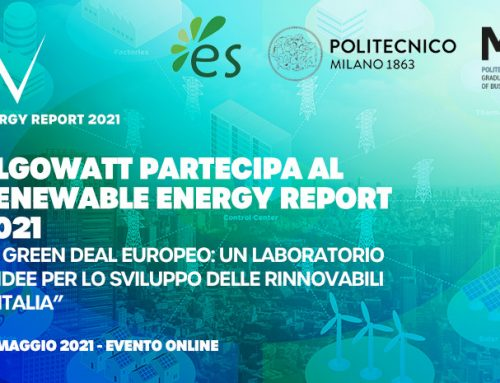 algoWatt partecipa al Renewable Energy Report 2021 sul Green Deal UE