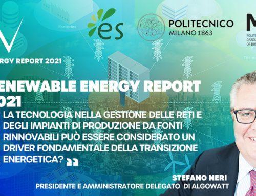 algoWatt al Renewable Energy Report, tra software, greentech e progetti innovativi sull'idrogeno