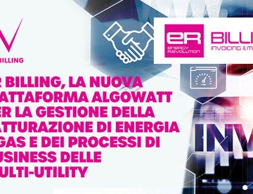 algoWatt presenta Energy R.Evolution Billing, la nuova piattaforma per la gestione digitale della fatturazione di energia e gas e dei processi di business delle multi-utility