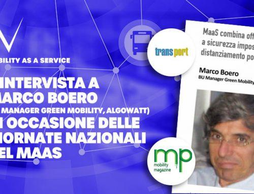 MaaS: Marco Boero nella nuova newsletter su Mobility Magazine e l'intervista per il format Transport