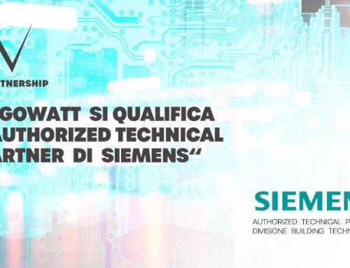 Al via partnership strategica con Siemens nel settore building technologies. Ottenuta la qualifica di Authorized Technical Partner