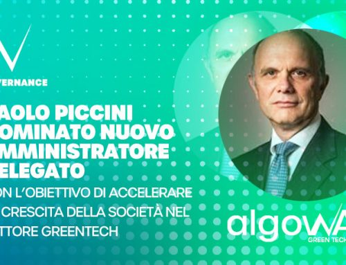 Paolo Piccini appointed as new CEO with the aim of accelerating the company's growth in the GreenTech sector