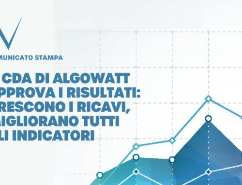 Il CDA di algoWatt approva i risultati consolidati al 30 giugno 2020 e al 30 giugno 2021. Crescono i ricavi, migliorano tutti gli indicatori