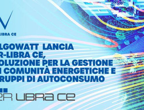algoWatt: annuncia il lancio di ER-LIBRA CE, la soluzione per la gestione delle Comunità Energetiche e dei Gruppi di Autoconsumo