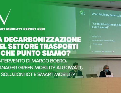 algoWatt porta l'offerta di soluzioni per la mobilità as-a-service allo Smart Mobility Report 2021